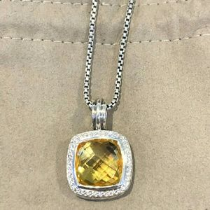 David yurman 14mm albion necklace lemon citrine